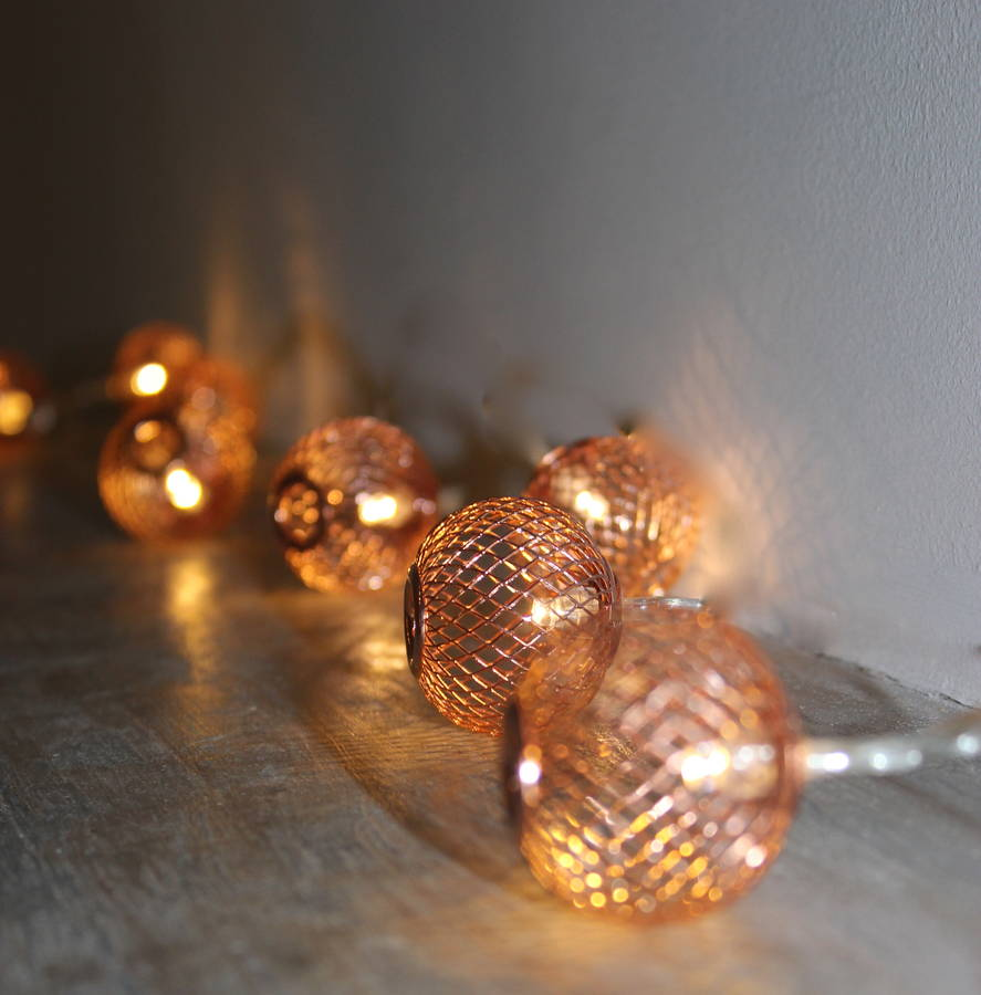 Copper Mesh Fairy Lights By The Forest Amp Co