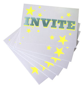 Set Of Six Invite Cards