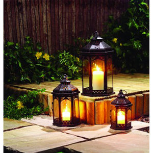 Set Of Three Zanzibar Tealight Candle Lanterns - candles & candlesticks