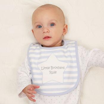 Personalised Applique Star Baby Bib