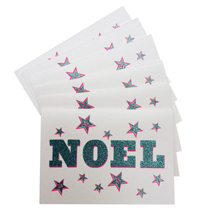 Pack Of Six 'Noel' Cards - christmas cards