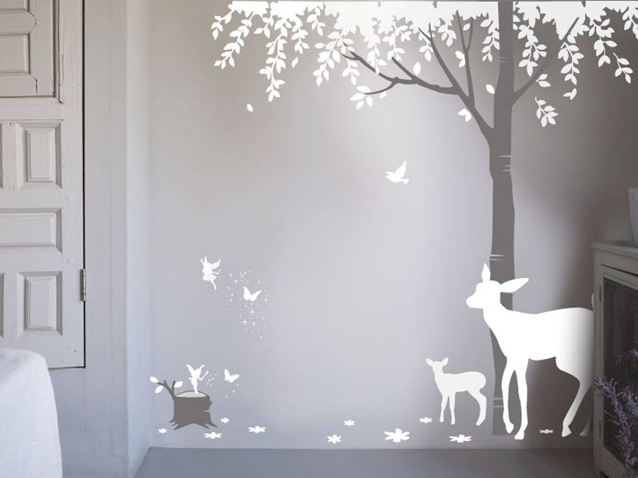 magical forest wall sticker by bambizi. Black Bedroom Furniture Sets. Home Design Ideas