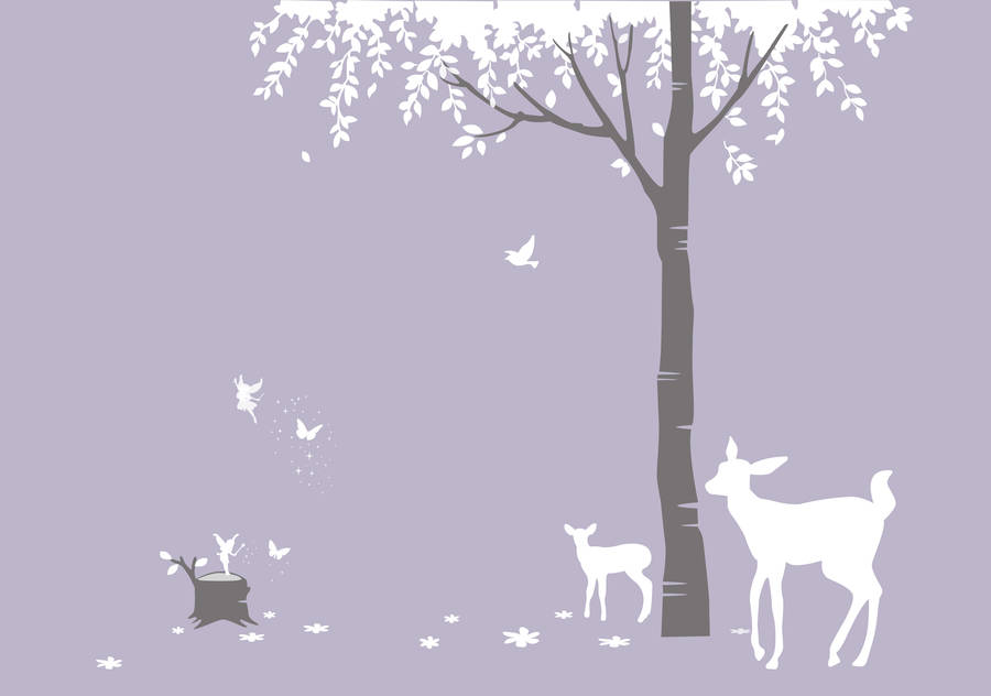 magical forest wall sticker by bambizi forest animals wall sticker peel and stick