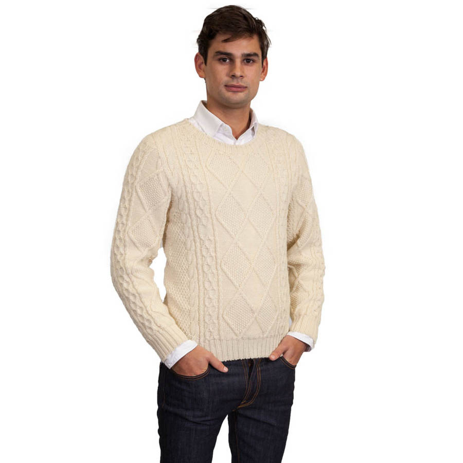 The Sweater Company Men's Kilmarnock Aran Sweater