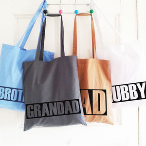 Personalised Tote Bags For The Boys