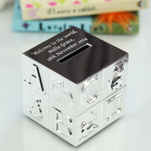 Silver Abc Money Box - children's room accessories