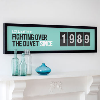 Personalised 'Since' Date Print