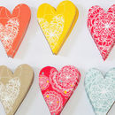 A6 Coloured Heart Multipack
