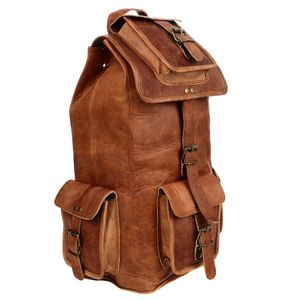 Large Brown Leather Rucksack - bags & purses