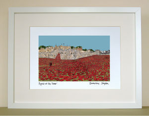 Poppies At The Tower Of London A4 Signed Print