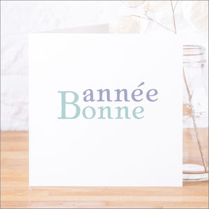 Single Or Pack Of French 'Bonne Année' New Year Cards - christmas card packs