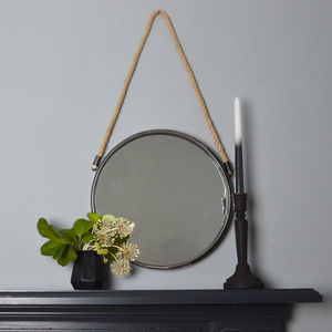 Round Mirror With Rope