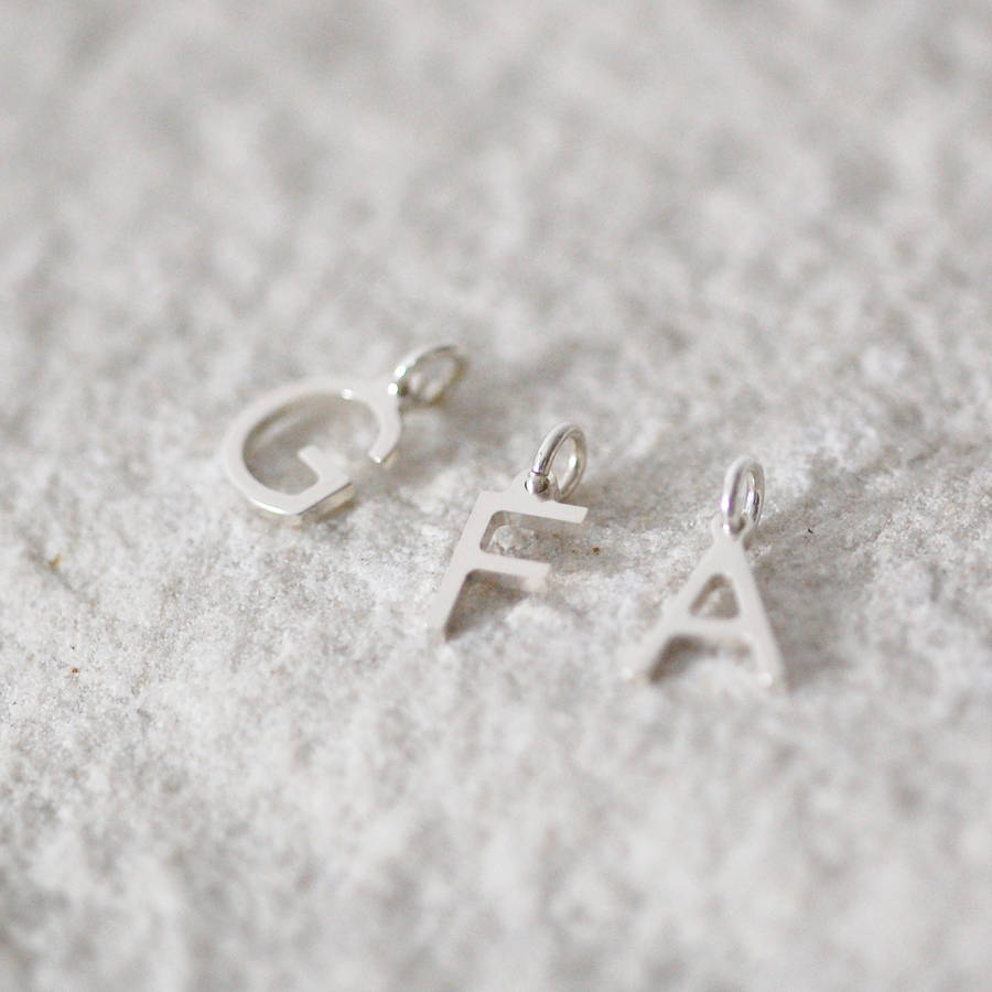 Sterling Tiny Initial