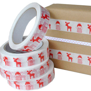 Festive Christmas Angel And Reindeer Wrapping Tape - whatsnew