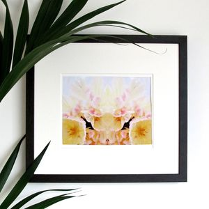 Yellow And Pink Tulips Print