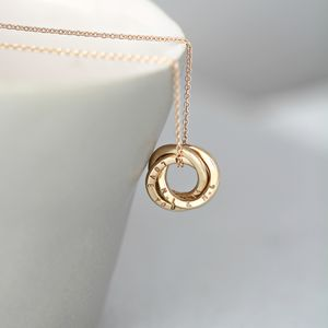Personalised Mini Russian Ring Necklace - gifts for mothers