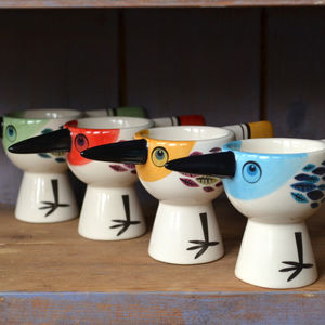 Bird Eggcup - egg cups & cosies