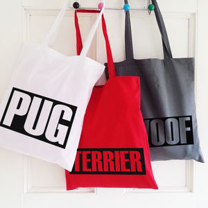 Personalised Tote Bags For Dog Lovers - dogs
