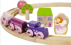 Girls Pink Train Set - pretend play & dressing up