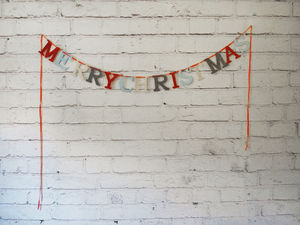 'Merry Christmas' Bunting Banner