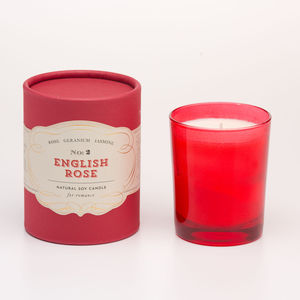English Rose Soy Candle For Romance - candles & home fragrance