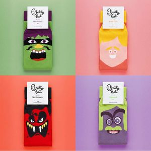 Illustrated Character Socks Set Of Four - women's fashion