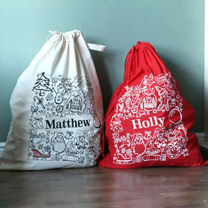 Personalised Christmas Sack - view all decorations