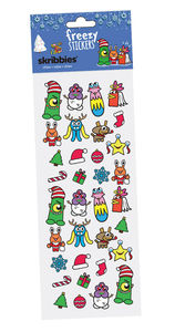Christmas Skribbies Monster Stickers - christmas stickers