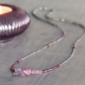Raw Ruby And Pink Sapphire Necklace