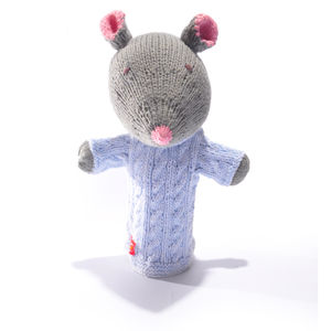 Mouse Hand Puppet In Organic Cotton