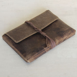 Leather Tablet Case - clutch bags