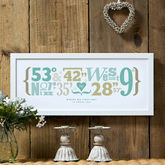 Personalised Coordinates Print - father's day