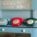 Vintage Style Telephone Green