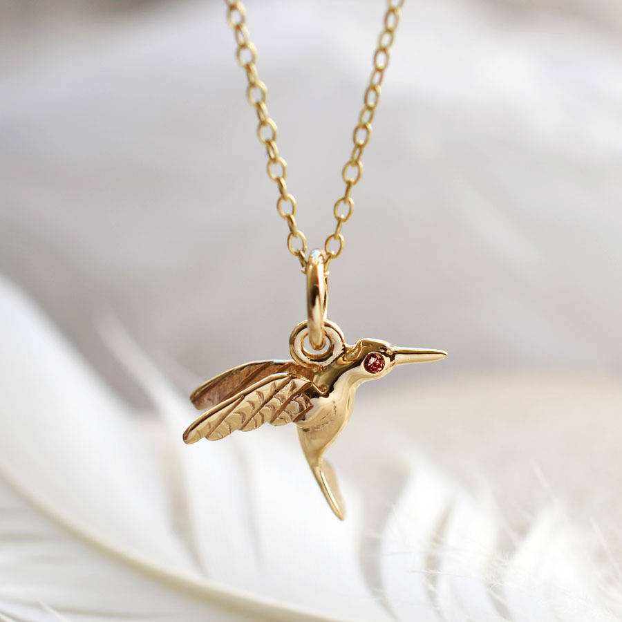 love necklaces necklace image vermeil long hummingbird gold