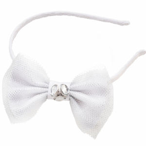 Classic Flower Girl's Bow Headband - bridesmaid accessories