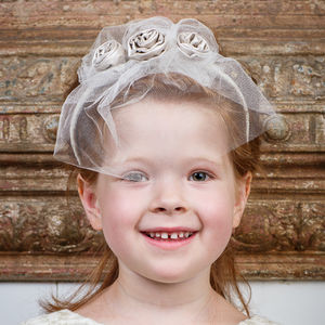 Lustre Girl's Triple Rose Headband