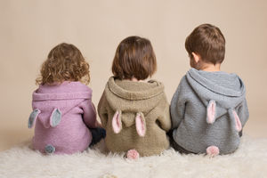 Hand Knitted Hooded Bunny Tops