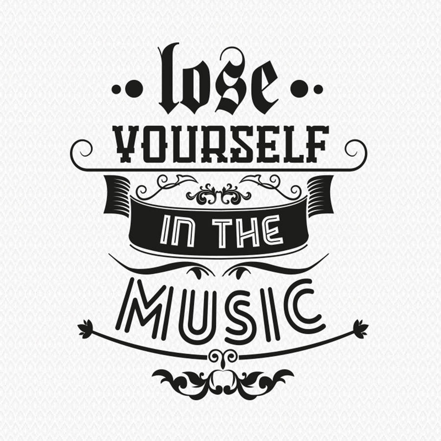 Wall Art Stickers Not On The High Street : Lose yourself in the music wall sticker by art