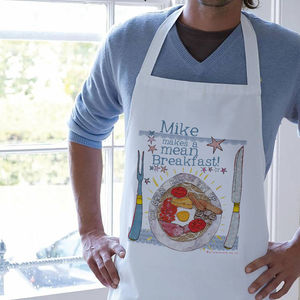 Personalised 'Makes A Mean…' Apron - kitchen accessories