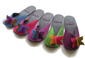 Felt Flutterby Slippers - women's fashion