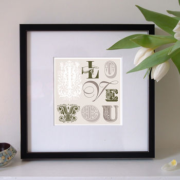 Anniversary Or Valentine 'I Love You' Print