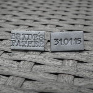 Personalised Bride's Father Cufflinks