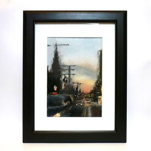 Edinburgh Princes Street Oil Painting - nature & landscape