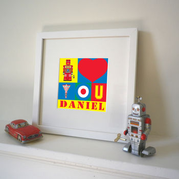 Personalised 'I Love You' Pop Art Print