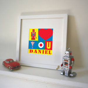 Personalised 'I Love You' Pop Art Print - prints for christmas