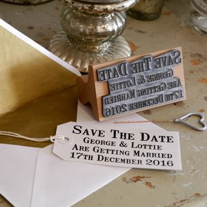 Save The Date Stamp - wedding stationery