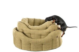 Tweed Dog Bed - beds & sleeping