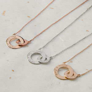 Personalised Intertwined Necklace - gifts for mothers