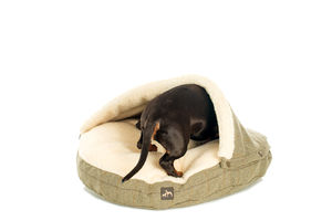 Tweed Cave Dog Bed - beds & sleeping