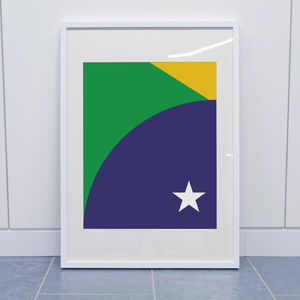 World Cup Deconstructed Brazil Football Print